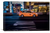 New York Cab, Canvas Print
