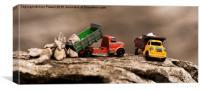 Dumper trucks at work, Canvas Print