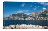 Lake Garda, Nago Torbole, Canvas Print