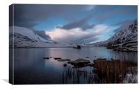 Calm on the Lake , LLyn Idwal , Canvas Print