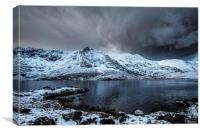 Llyn Idwal Calm before the Storm , Canvas Print