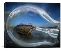 Shed some light on the Harbour , Canvas Print