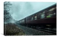 The Royal Scot in motion , Canvas Print