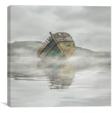 Mists in Dulas Bay Anglesey , Canvas Print