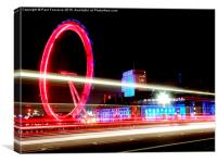 London Eye at night . , Canvas Print