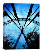 London Eye with bird flight, Canvas Print