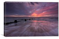 Wavey Sunrise, Canvas Print