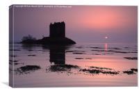 Castle Stalker, HIghlands of Scotland, Canvas Print