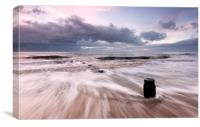 Gentle Waves at Walton on the Naze, Canvas Print