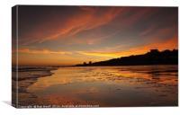 Frinton Sunset Reflections, Canvas Print