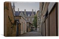 Alleyway in Bath, Somerset, Canvas Print