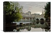 Avon Canal, Bath, Somerset, Canvas Print