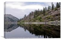 Reflections on the Snake River in Idaho , Canvas Print