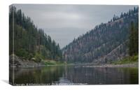 At a River Bend in Idaho, Canvas Print