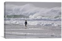 Tide Coming in Along the Oregon Coast, Canvas Print