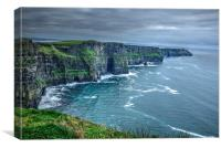 Cliffs of Moher. Ireland. HDR landscape3, Canvas Print