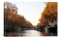 Amsterdam Canal., Canvas Print
