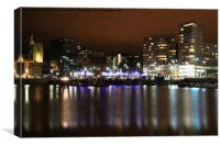 Salthouse Dock Reflection, Canvas Print