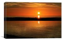 Calm Evening Rippled Waters Sunset, Canvas Print