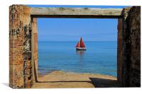 Abandoned Lifeboat Station Slipway Yacht, Canvas Print