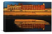 Grand Metropole Hotel Blackpool Reflection, Canvas Print