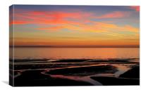 Fylde Coast Sunset , Canvas Print