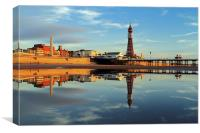 Blackpool Tower Reflection, Canvas Print