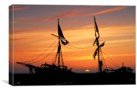 Grace Darling Sunset, Canvas Print