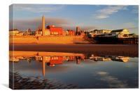 Blackpool Beach Reflection, Canvas Print