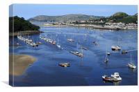 River Conwy Marina, Canvas Print