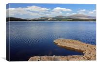 Chatteringshaws Loch , Canvas Print