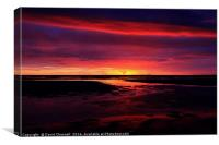 Wallasey Shore Sunset, Canvas Print