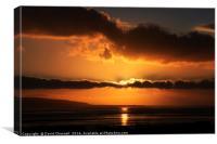 River Dee Sunset , Canvas Print