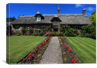Beautiful Thatched Cottage, Canvas Print