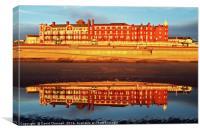 Grand Metropole Hotel Blackpool Reflection , Canvas Print