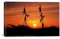 Pirate Ship Sunset , Canvas Print