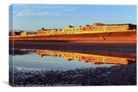 Blackpool North Shore Reflection, Canvas Print