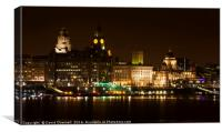 Liverpool 3 Graces, Canvas Print