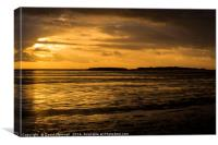Golden Hour Hilbre Island Silhouette, Canvas Print