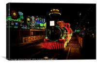 Blackpool illuminated Tram, Canvas Print