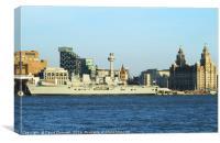 HMS illustrious , Canvas Print