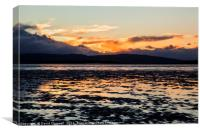 North Wales Sunset, Canvas Print