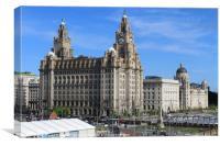 Liverpool 3 Graces , Canvas Print