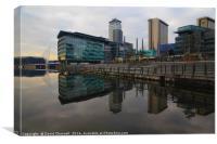 Salford Quays Reflection  , Canvas Print