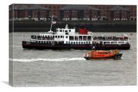 Royal Iris Mersey Ferry & Hoylake Lifeboat, Canvas Print
