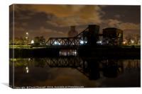 Egerton Bascule Bridge , Canvas Print