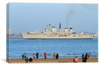 HMS illustrious, Canvas Print