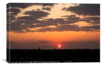 Ellesmere Port Sunset, Canvas Print