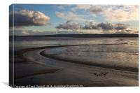 River Dee Estuary Tidal Mudflats, Canvas Print