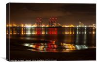 Liverpool Docks Lightshow, Canvas Print
